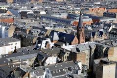 Paesaggio urbano di Copenhaghen Fotografie Stock Libere da Diritti