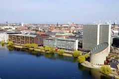 Paesaggio urbano di Copenhaghen Fotografie Stock