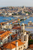 Paesaggio urbano di Costantinopoli fotografie stock libere da diritti