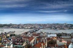 Paesaggio urbano di Costantinopoli, Turchia Immagini Stock