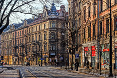 Paesaggio urbano di Cracovia Immagini Stock