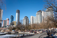 Paesaggio urbano di Dalian nell'inverno Immagine Stock