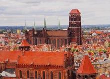 Paesaggio urbano di Danzica, Polonia Fotografia Stock Libera da Diritti