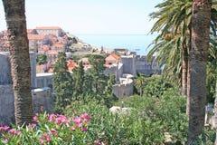 Paesaggio urbano di Dubrovnik fotografia stock libera da diritti