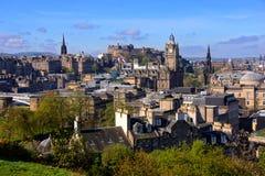 Paesaggio urbano di Edimburgo Immagine Stock