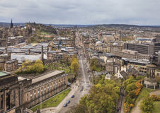 Paesaggio urbano di Edimburgo, Scozia Fotografia Stock