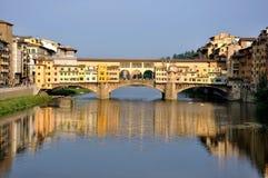 Paesaggio urbano di Firenze di giorno, Ponte Vecchio Fotografia Stock Libera da Diritti