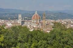 Paesaggio urbano di Firenze, Italia con la cattedrale del duomo Fotografie Stock Libere da Diritti