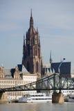 Paesaggio urbano di Francoforte Fotografie Stock Libere da Diritti
