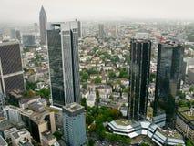 Paesaggio urbano di Francoforte Fotografia Stock