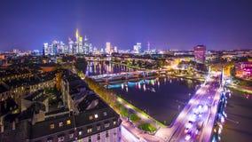 Paesaggio urbano di Francoforte, Germania stock footage