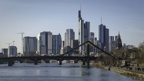 Paesaggio urbano di Francoforte sul Meno Immagini Stock