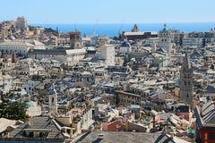 Paesaggio urbano di Genova immagini stock libere da diritti