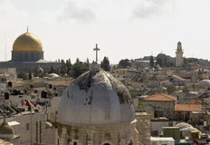Paesaggio urbano di Gerusalemme Fotografia Stock Libera da Diritti