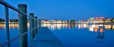 Paesaggio urbano di Ginevra Fotografie Stock Libere da Diritti