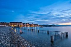 Paesaggio urbano di Ginevra Fotografia Stock