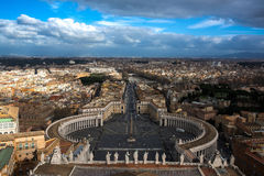 Paesaggio urbano di giorno Roma Italia del paesaggio dalla cima della cattedrale del Vaticano Immagine Stock Libera da Diritti