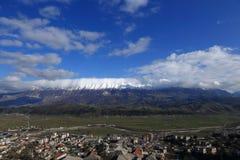 Paesaggio urbano di Gjirokaster, Albania Fotografia Stock Libera da Diritti