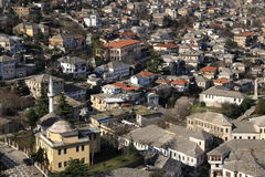 Paesaggio urbano di Gjirokaster, Albania Immagini Stock Libere da Diritti