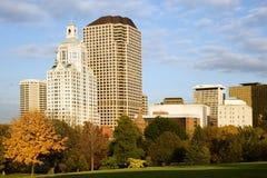 Paesaggio urbano di Hartford Fotografia Stock