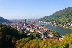 Paesaggio urbano di Heidelberg, Germania immagini stock