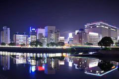 Paesaggio urbano di Hiroshima immagini stock