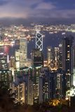 Paesaggio urbano di Hong Kong Immagini Stock Libere da Diritti