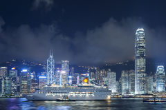 Paesaggio urbano di Hong Kong Fotografie Stock Libere da Diritti