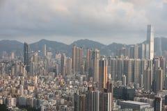 Paesaggio urbano di Hong Kong a 2016 Fotografie Stock Libere da Diritti