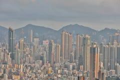 Paesaggio urbano di Hong Kong a 2016 Immagine Stock