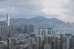 Paesaggio urbano di Hong Kong a 2016 Fotografia Stock Libera da Diritti