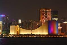 Paesaggio urbano di Hong Kong alla notte.   Fotografia Stock