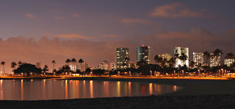 Paesaggio urbano di Honolulu Fotografia Stock Libera da Diritti