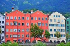 Paesaggio urbano di Innsbruck, Austria Fotografie Stock Libere da Diritti