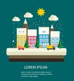Paesaggio urbano di inverno Royalty Illustrazione gratis