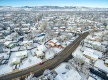 Paesaggio urbano di inverno di Fort Collins Fotografia Stock Libera da Diritti