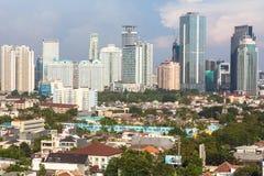 Paesaggio urbano di Jakarta Fotografie Stock