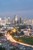 Paesaggio urbano di Jakarta Fotografia Stock