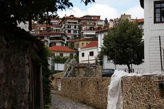 Paesaggio urbano di Kastoria, Grecia Fotografia Stock