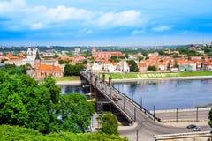 Paesaggio urbano di Kaunas Fotografia Stock Libera da Diritti