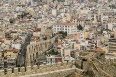 Paesaggio urbano di Kavala, Grecia immagini stock libere da diritti