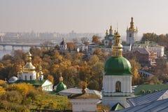 Paesaggio urbano di Kiev di autunno Immagini Stock Libere da Diritti