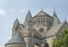 Paesaggio urbano di Koblenz della chiesa del Jesus in Germania Fotografie Stock