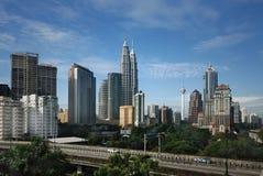 Paesaggio urbano di Kuala Lumpur fotografia stock