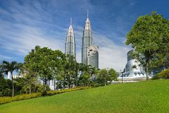 Paesaggio urbano di Kuala Lumpur fotografia stock libera da diritti
