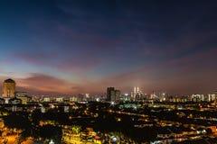 Paesaggio urbano di Kuala Lumpur Immagine Stock