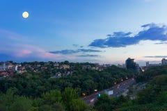 Paesaggio urbano di Kyiv Fotografia Stock