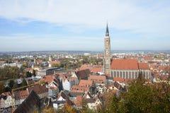 Paesaggio urbano di Landshut Fotografia Stock