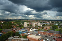 Paesaggio urbano di Leeds Immagini Stock