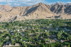 Paesaggio urbano di Leh - Ladakh, India Fotografia Stock